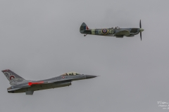 General Dynamics F-16 Fighting Falcon - Danish Air Force & Vickers Supermarine Spitfire Mk. XVI