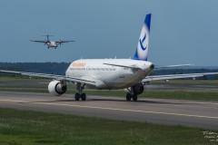 TBE_8355-Airbus A320-214 - Freebird Airlines - (TC-FBO) & Atr ATR 72-600 - SAS - (ES-ATE)