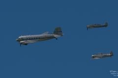 TBE_6946-Douglas DC-3 & Focke-Wulf FW-190A-8 - (D-FWSE) & Noorduyn AT-16 Harvard IIB (SE-FUZ)