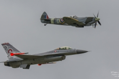 Dynamics F-16 Fighting Falcon - Danish Air Force & Vickers Supermarine Spitfire Mk. XVI