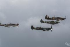 TBE_9492-Classic Warbirds (Vickers Supermarine Spitfire Mk. IX & XVI - North Amercian P-51D Mustang & Hawker Hurricane Mk1)